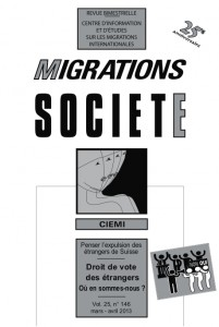 Migrations Société, vol. 25, n° 146, mars - avril 2013